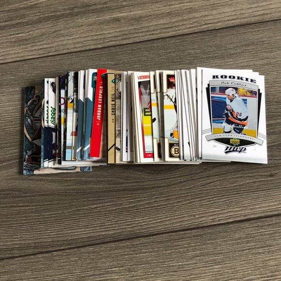 Grab bag of 63 hockey cards